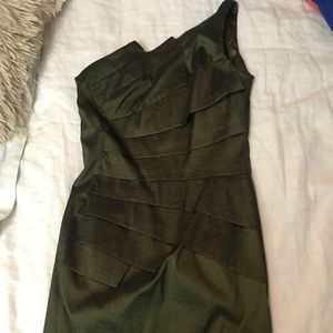 Jessica McClintock 1 Shoulder Green Dress